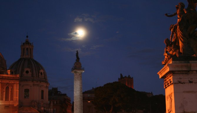 Rome, Italy: Chilling night near the capital