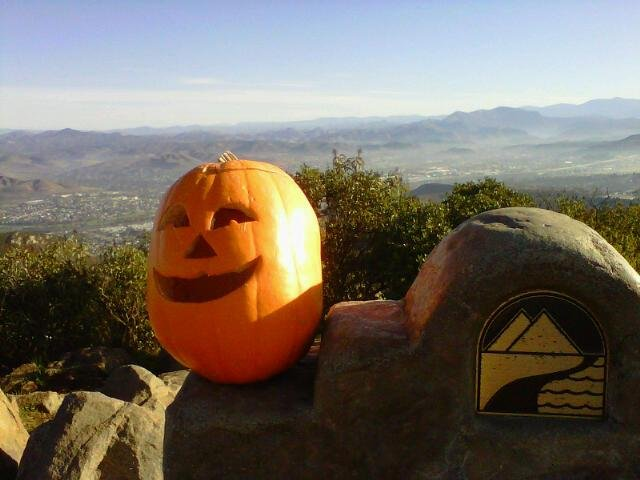 Happy Halloween from the top of Cowles Mountain!