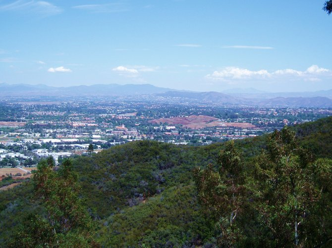 A view of Temecula from the western hills.
