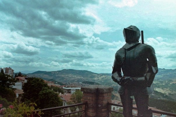 A knight in San Marino, Italy