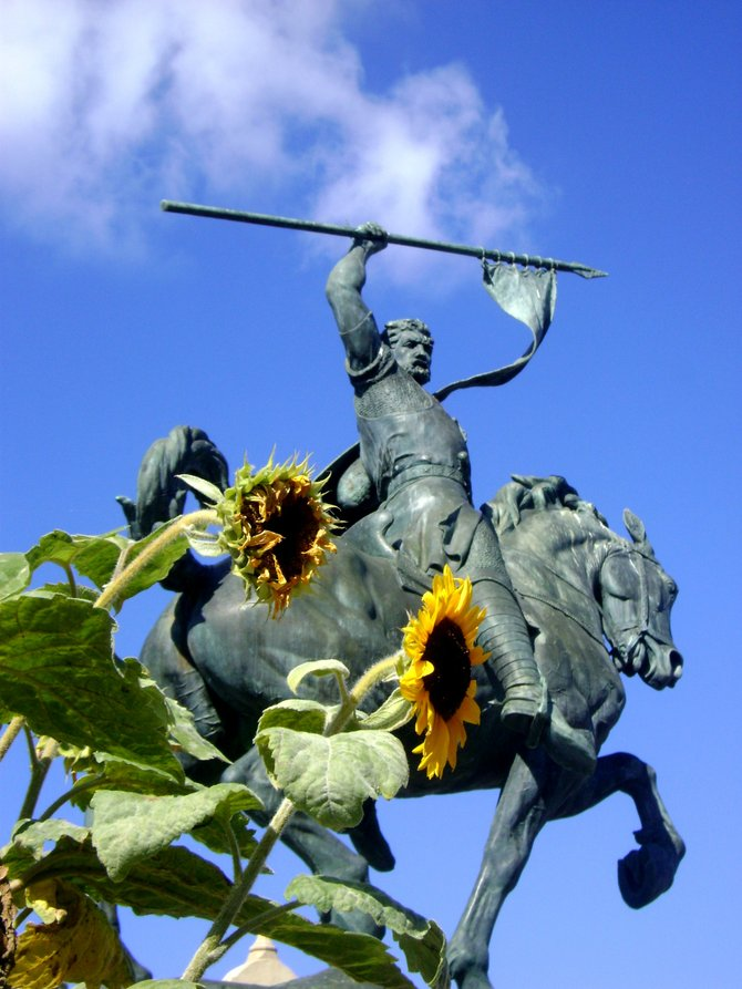 The El Cid Campeador statue in Balboa Park. This statue represents a moment in time, a moment in time showing strength and integrity of the heart.