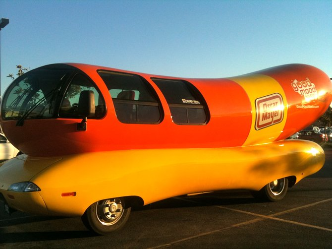Wienermobile, Oceanside, CA.