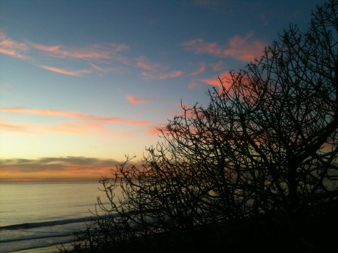 November sunset, Carlsbad, CA.