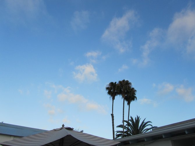 Autumn skies above our serra mesa neighborhood