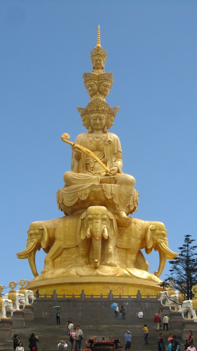 """The English subtitles on the summit call this """"GIANT GOLDEN BUDDHA"""", and rightfully so. The thing is HUGE!"""