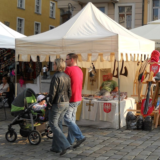 Stalls at Franciscan Fair in Poznan (craftsmen)