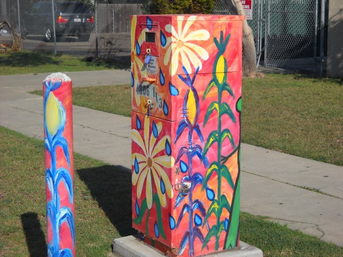 Colorful urban art in OB.