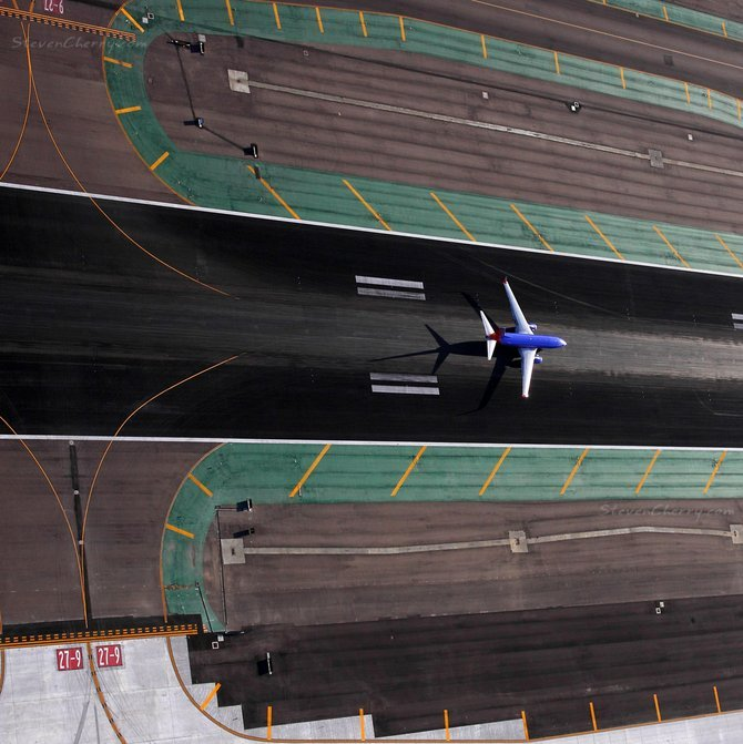Shot from R22 heli on transition over Lindbergh field.