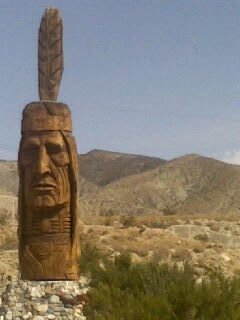 I took this photo on a recent trip to Palm Springs. We were having trouble locating an address and not having a clue to really where to begin, we saw signs leading us to the visitors bureau. My friend and were surprised to find this wonderful historical attraction. it was a mini olden day western town complete with the above Indian totem pole. Being lost that day was so much fun.