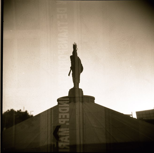 The roundabout Tijuana mexico Holga