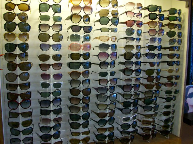 Choices, choices! At Newport Optometry in Ocean Beach.