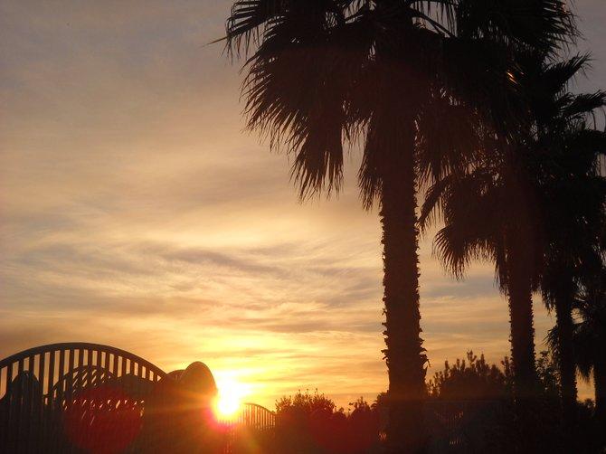 Sunset in Ocean Beach.