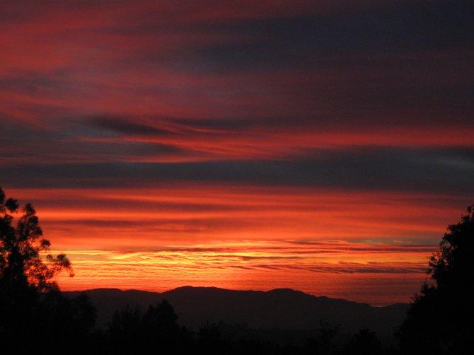 Red sky in morning, sailors take warning.