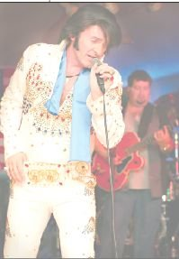 "James Kruk as Elvis, ""The coolest man musician who ever lived."""