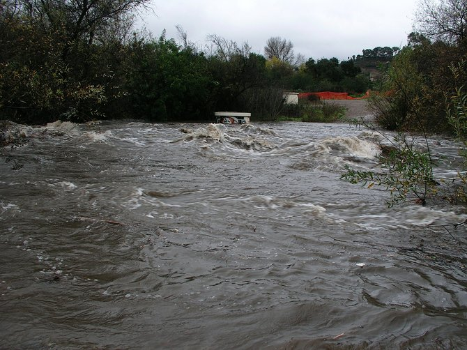 Penasquitos Creek, December 21st, 2010, after three days of pounding rain.