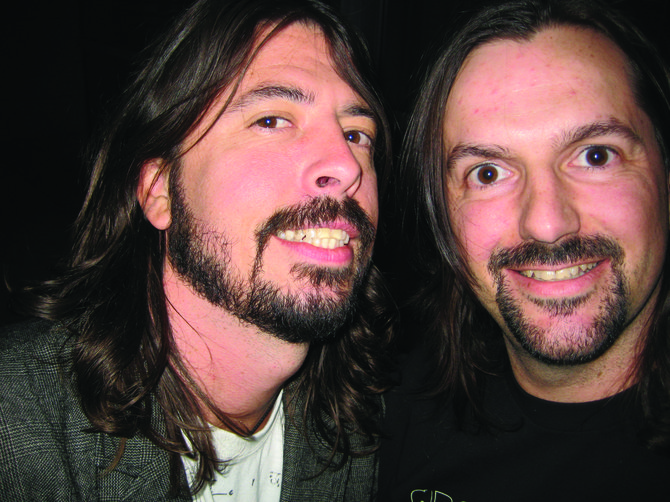 No Cover's Mark Rasmussen (right) with Foofer Dave Grohl