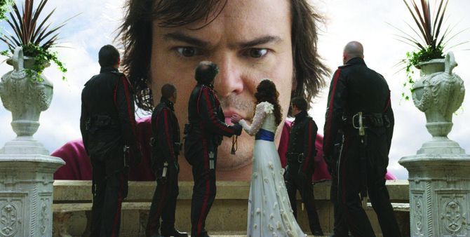 Jack Black is one special effect among many in Gulliver's Travels.
