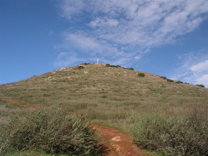 View of the Battle Hill Cross from the bottom of the hill. January 7th, 2011.