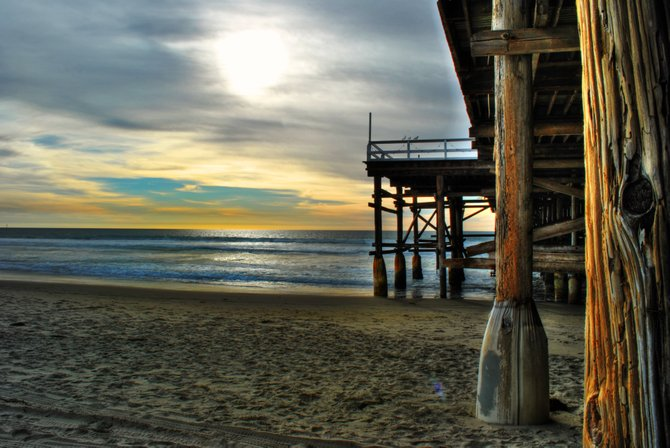 This is a shot from under Crystal Pier in PB.