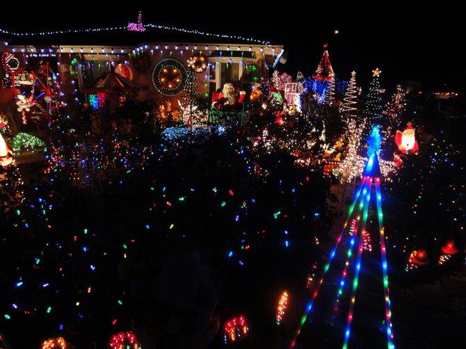 Christmas lights, house on Coronado Blvd.