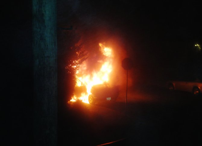 Car explosion at 4:00 a.m. December 2010