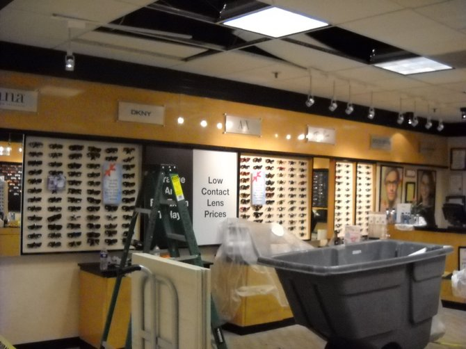 JC Penney Optical Dept. in Fashion Valley got inundated from a broken water pipe on 01/12.
