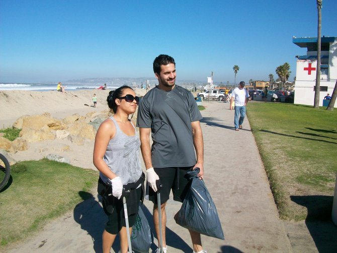 Beach clean-up activists at Coastkeeper event on January 22nd.