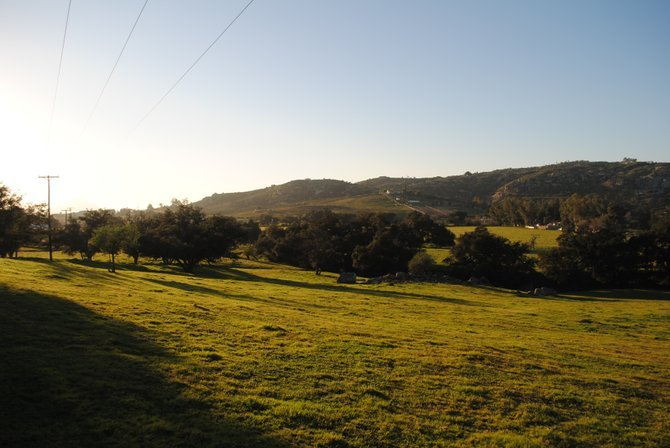 This is a photo looking west at Ramona from Old Julian Highway