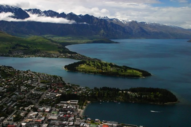 View of Queenstown, New Zealand from the skyline gondola.