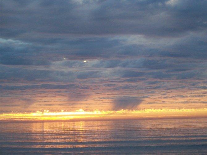 Sunset on February 1st at the bottom of Nautalis. Beautiful.