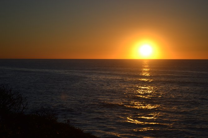 Sunset along the cliffs at La Jolla. Taken Feb. 9th.