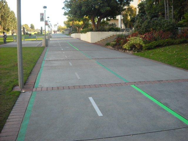 San Diego State's new on-campus bike lane