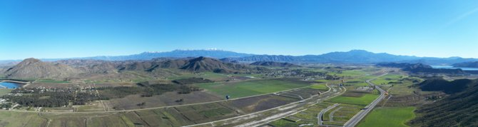 View from my hot air balloon near Menifee, CA