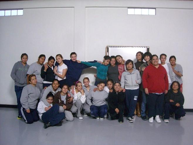 Young women of Proyecto de las Morras, a literary workshop in El Mezón