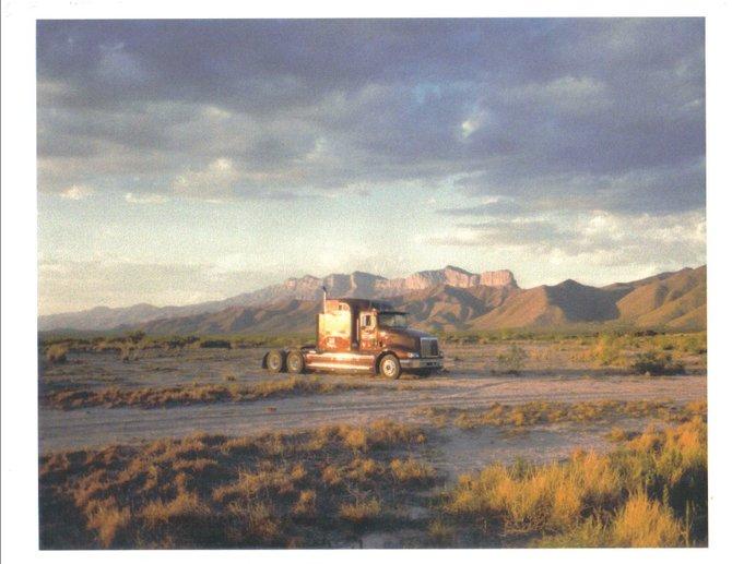 Truck camping on a playa in Texas beneath the world's most famous limestone fossil reef, prior to ascending Guadalupe Peak the following morning.