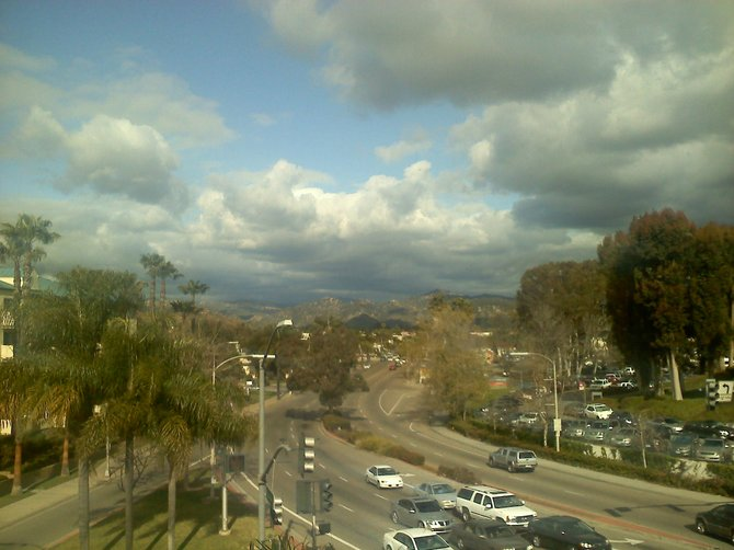 Leaving work (NC Women's Specialists) glanced out the window and seen this beautiful view. Escondido right in front of Palomar Hospital.
