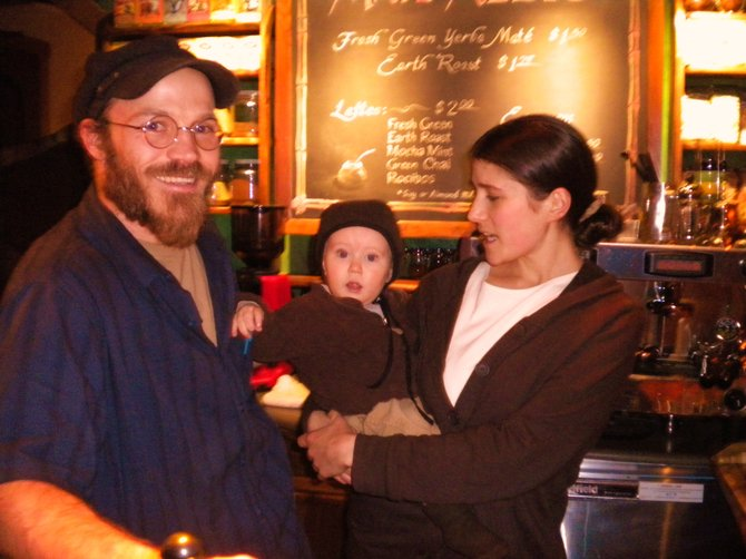 Dayag, wife Tsebiah, and son Roeh are part of the community that runs the deli.