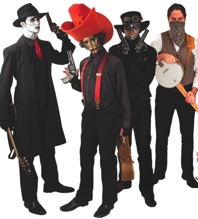Musical mimes Steam Powered Giraffe