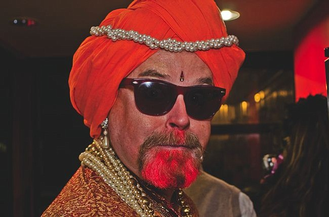 The swami is in.