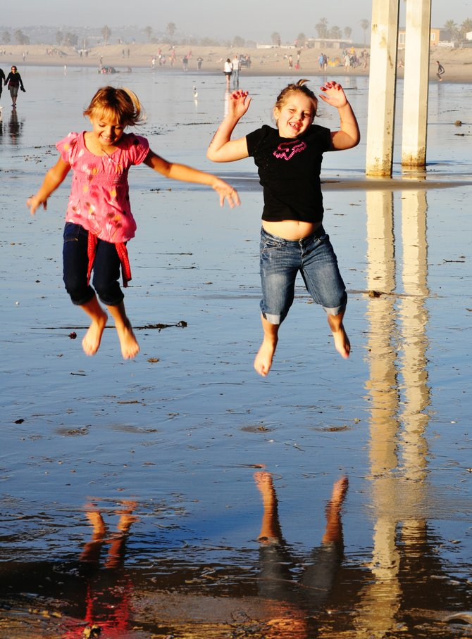 Girls having fun on the beach!