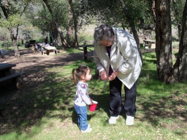 Annalise with her Great Great Grandma Rosie at Rancho Cuyamaca State Park on Easter... Right before the 7.9 earthquake, 2010.