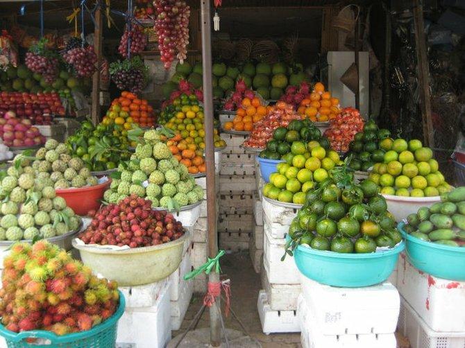 Marketplace in Vietnam.