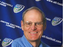 William Hambrecht, sole possessor of the only two UFL trophies in existence — the William Hambrecht Trophy