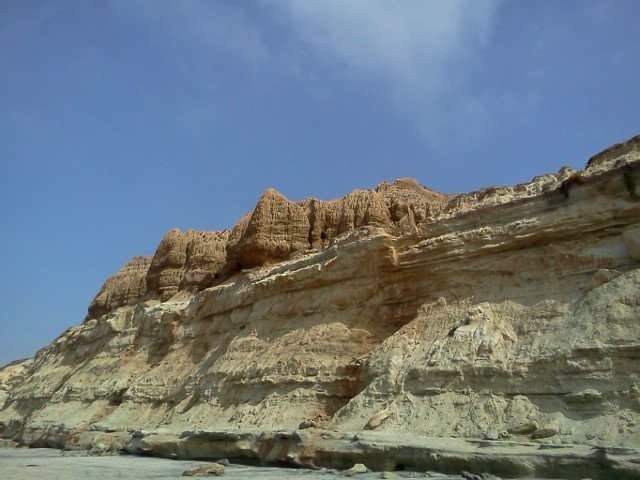 The cliffs above Torrey Pines State Beach.