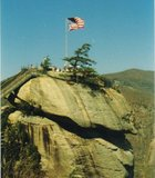 Old Glory flying over Chimney Rock, NC.