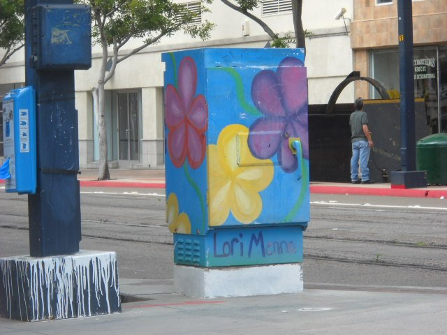 More utility box art downtown at 7th & C Street.