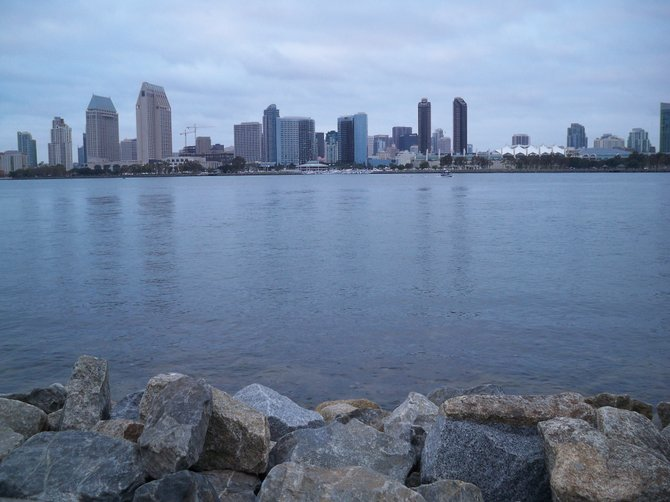 Taken from the Ferry Landing in Coronado looking across the bay at Downtown