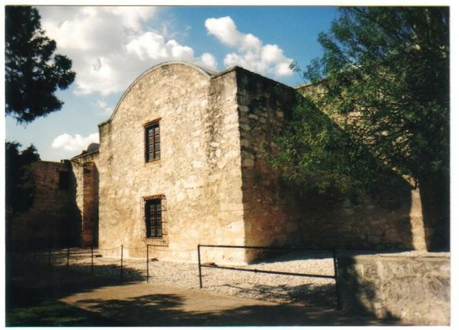 View of the Alamo, San Antonio, TX.