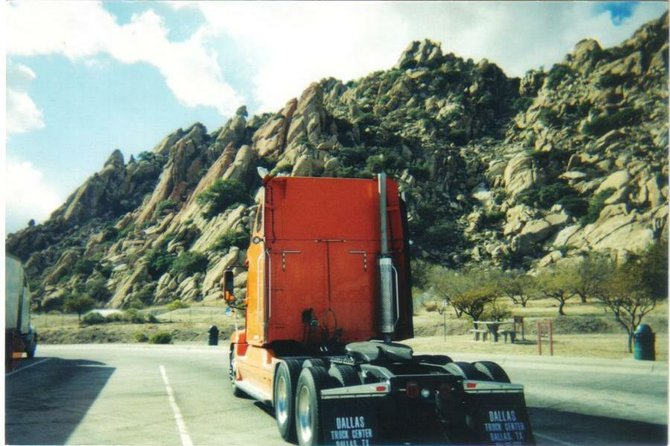 Rest area, Dragoon Mountains, SE AZ. I've climbed those rocks many times!!!