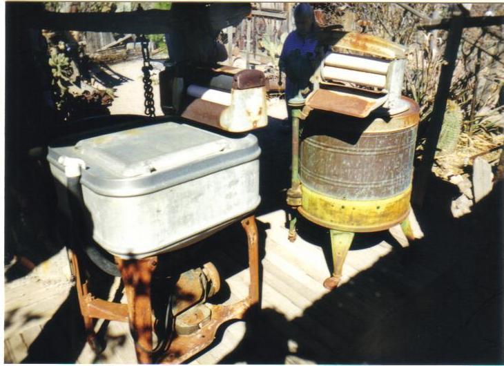 Steins, NM. Primitive washing machines.